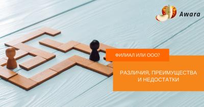 Филиал и ООО: различия, преимущества и недостатки