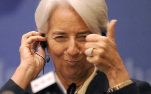 Voilà! That's the way to do it. Boys, keep printing that money, says Madame Lagarde.