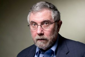 Krugman has a keen eye for the facts he likes