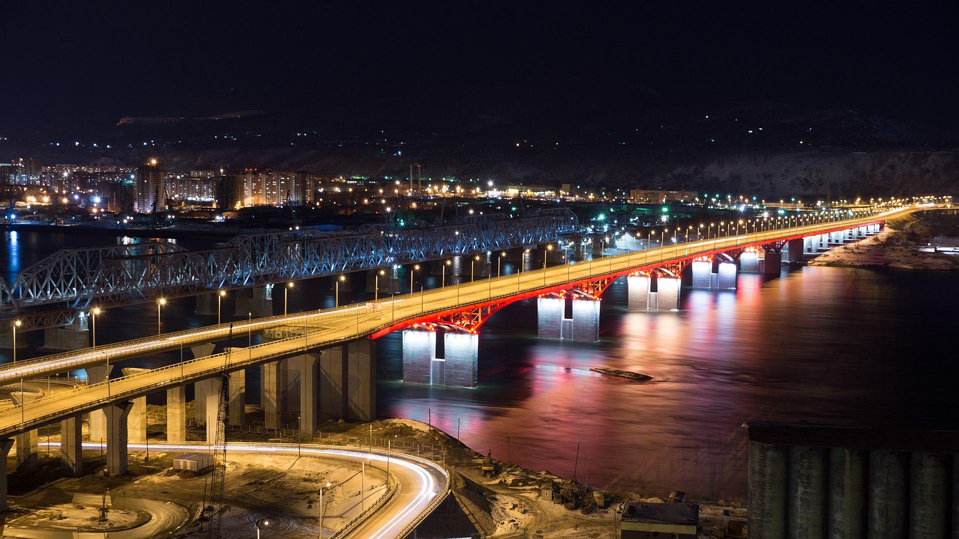 nikolaevsky bridge krasnoyarsk