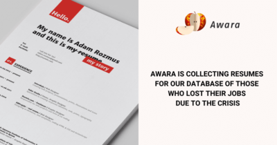 Awara is collecting resumes for our database of those who lost their jobs due to the crisis
