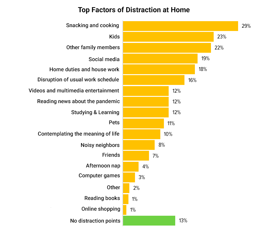 distraction factors during remote work