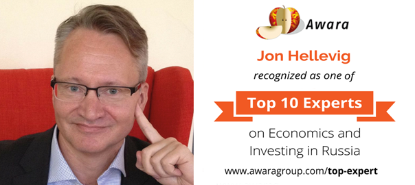 Jon Hellevig has been recognized among the top 10 experts on economics and investing in Russia